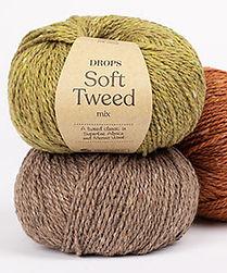 DROPS Soft Tweed Un tweed clásico en Alpaca Superfine y Lana Merino
