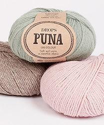 DROPS Puna es un hilo suave, ligero y maravillosamente cálido compuesto de 100% alpaca superfina