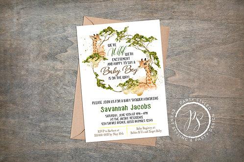 Safari Baby Shower Invite