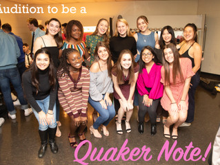 Quaker Notes Fall 2020 *Virtual* Auditions!