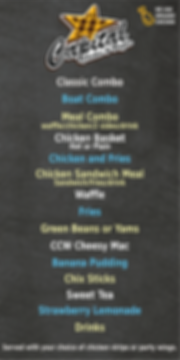 Capital Chicken and Waffles Food Truck Menu