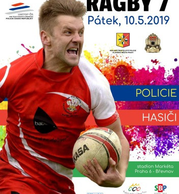 Turnaj týmů policie a hasičů v sedmičkovém ragby 2019, třetí ročník