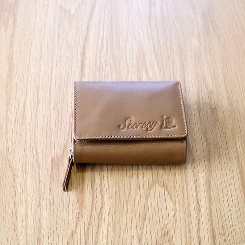 三つ折財布(キャメル)