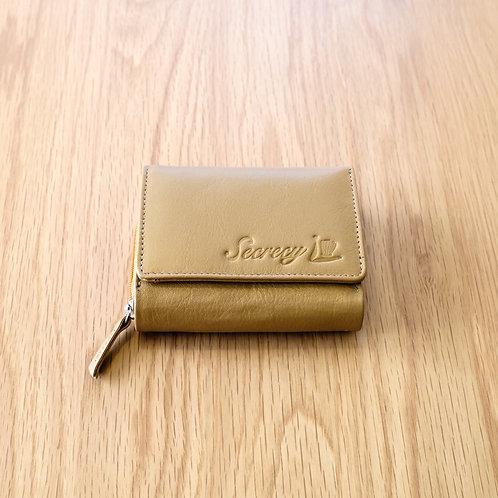 三つ折財布(ゴールド)