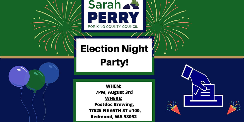 Election Night Party w/ Sarah Perry