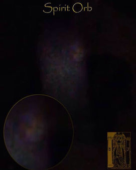 Spirit of female manifests from Orb