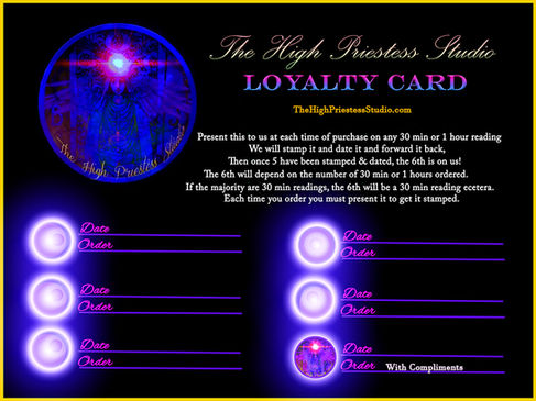 The High Priestess Studio Loyalty Card