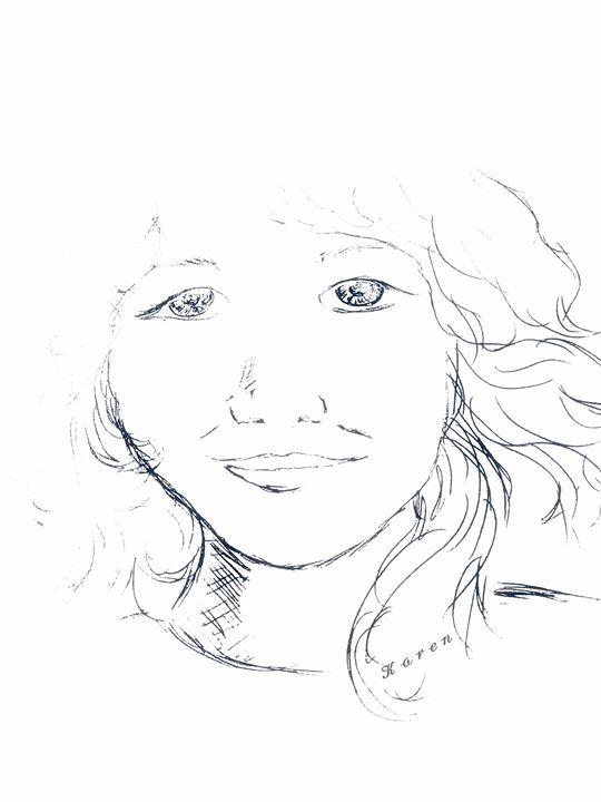 Young girl apparitioin