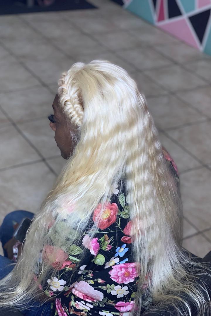 Platinum Crinkle Wave full lace wig