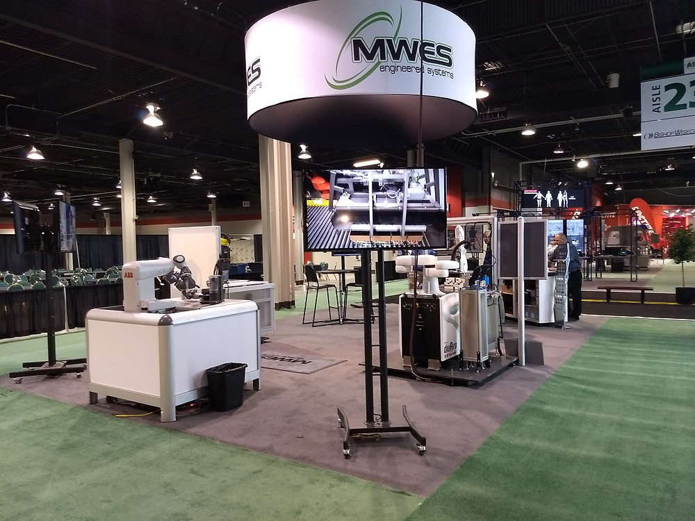 Demonstrating collaborative robots in factory automation by MWES systems integrators