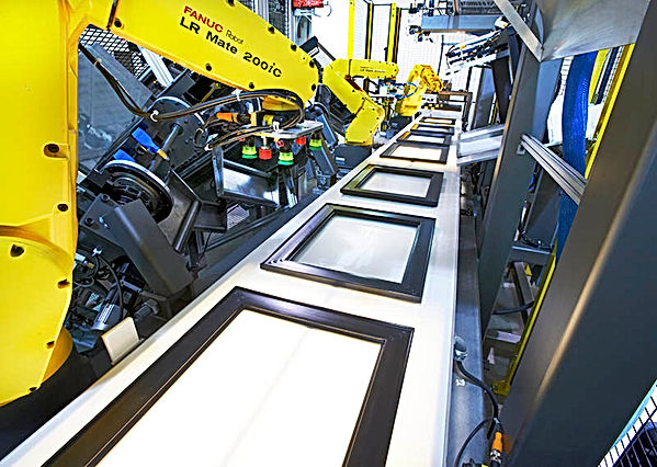 Robotic assembly line for picture frames