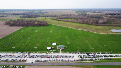 Aerial Photo taken with drone of Soccer Tournament