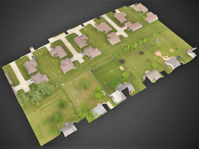 3D aerial photo taken with unmanned aerial vehicle in Terre Haute Indiana