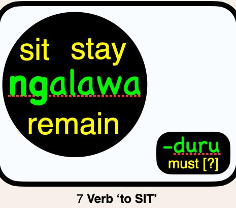 07 ngalawa SIT, STAY, REMAIN