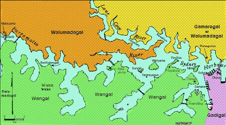 Aboriginal languages in Sydney Harbour west