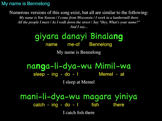 My name is Bennelong