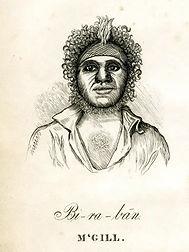 A portrait of Biraban the Aboriginal translator