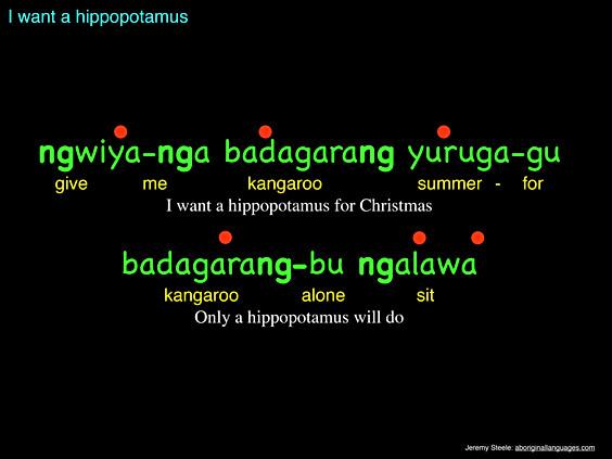 I want a hippopotamus