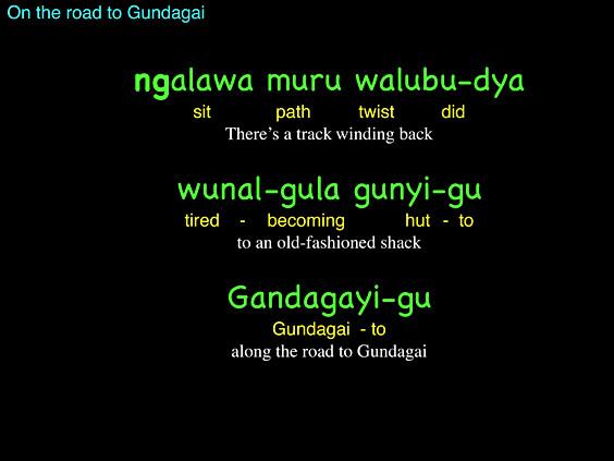 On the road to Gundagai