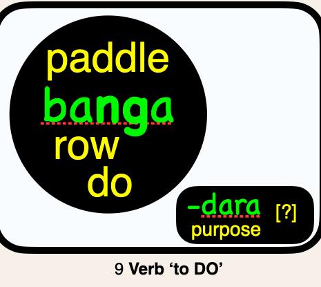 09 banga PADDLE, ROW, DO