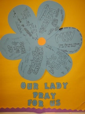 Our Lady prayer flower, St Benedict's, Easterhouse