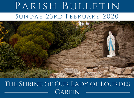 Parish Bulletin 23.02.20