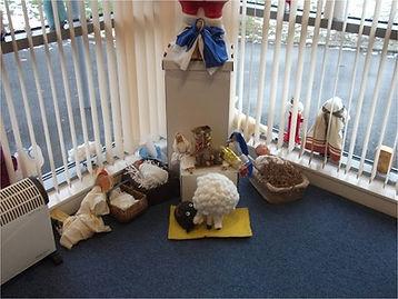 Crib figures, St John the Baptist, Uddingston