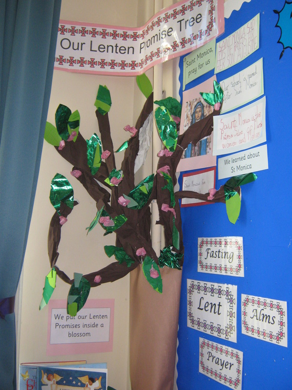 Lenten promise tree (promises placed