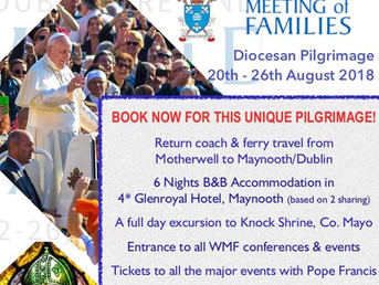 Pilgrimage to World Meeting of Families in Dublin