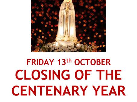 Closing of Fatima Centenary