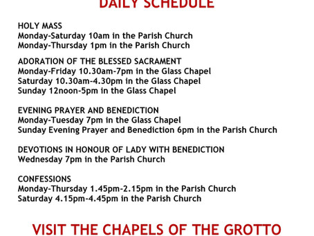 Daily Grotto Schedule