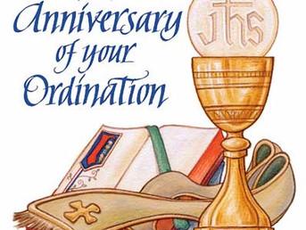 Clergy Ordination Anniversaries