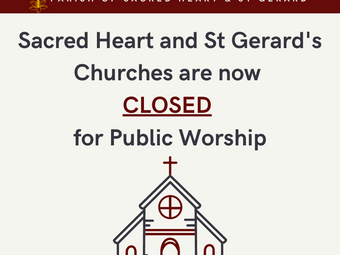 Churches close for lockdown