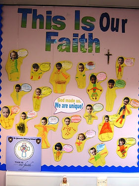 God made us, We are Unique, P1/2 St Gerard's Bellshill