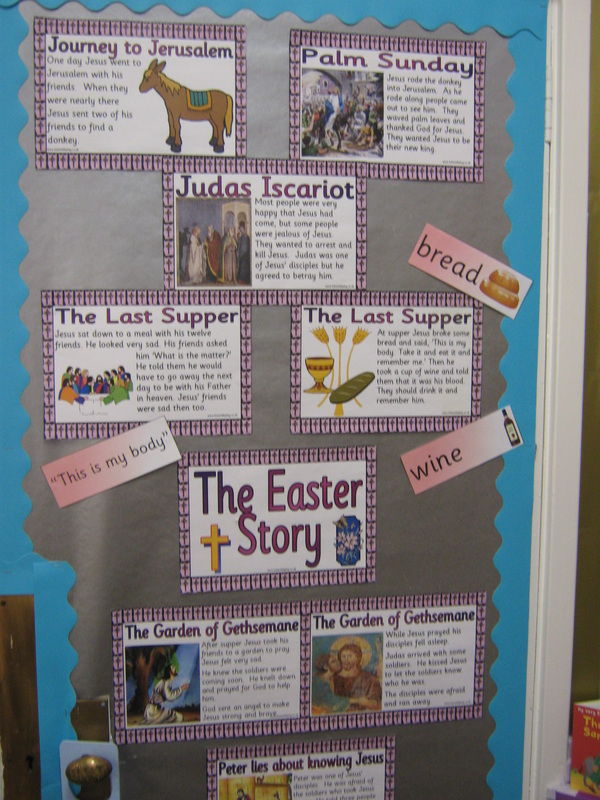 Holy Week and Easter display, P3 St