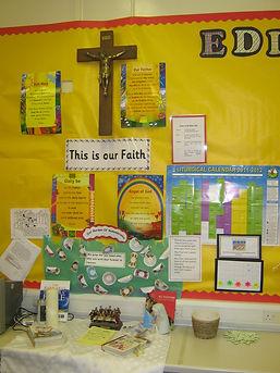 Class prayer display, St Bernadette's Motherwell