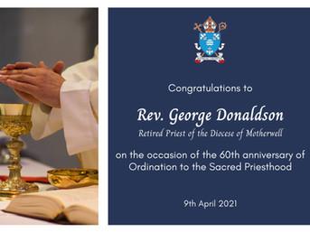 Fr George Donaldson 60th Anniversary