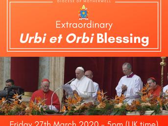 Extraordinary Urbi et Orbi Blessing