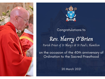 Congratulations Fr O'Brien