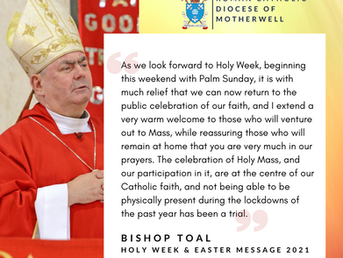 Holy Week & Easter Message from Bishop Toal