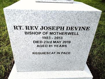 New gravestone erected for Bishop Devine