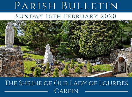 Parish Bulletin 16.02.20