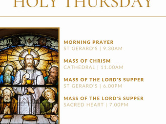 Holy Thursday Schedule