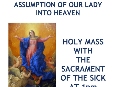 Solemnity of the Assumption.