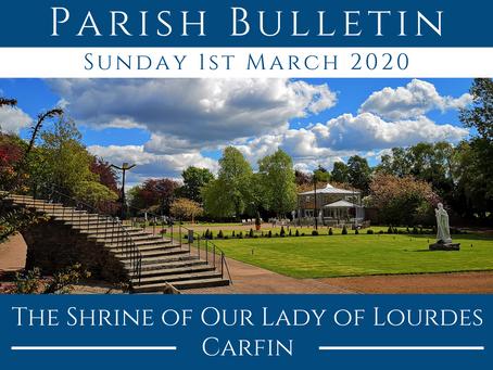 Parish Bulletin 01.03.20