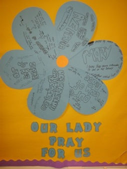 Our Lady prayer flower, St Benedict's Easterhouse