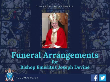 Funeral Arrangements for Bishop Devine