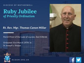 Monsignor Millar 40th Anniversary