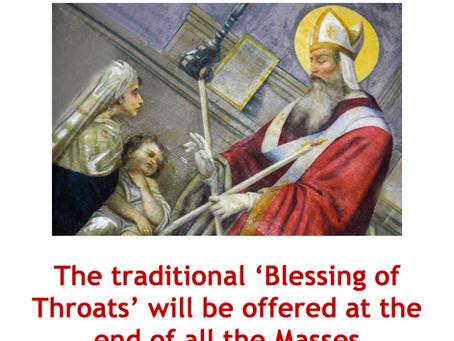 Feast of St Blaise