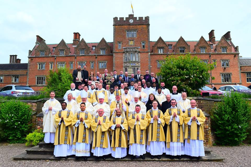 Newly ordained Deacons at Oscott College